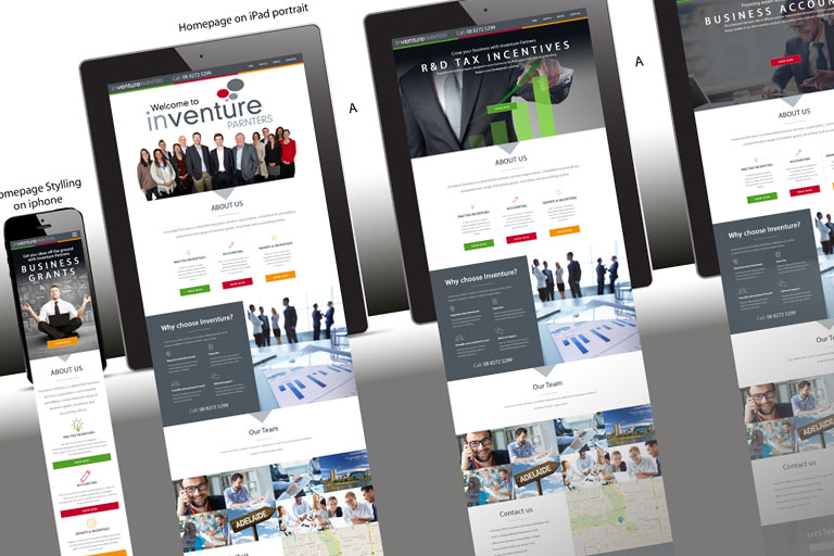 Inventure - Responsive website and branding for Melbourne based company